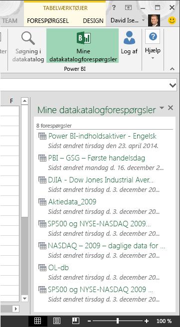 Ruden Mine datakatalogforespørgsler