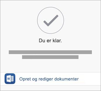 Tryk på Opret og Rediger for at begynde at bruge app'en.