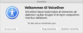 Aktivere eller deaktivere VoiceOver