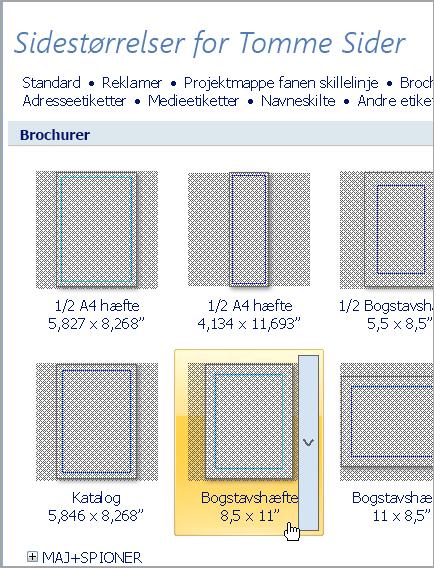 Brochure i Letter-format