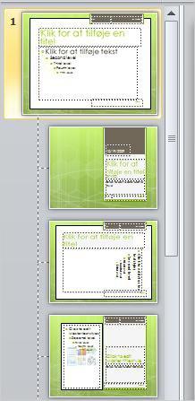 Diasmaster med 3 forskellige layout