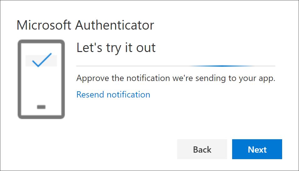 Test din konto med Authenticator-appen