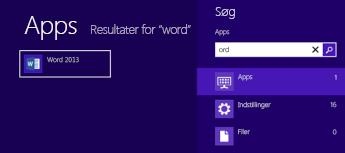 Starte Office i Windows 8 eller RT