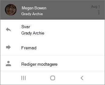 Besvare mail i Outlook Mobile