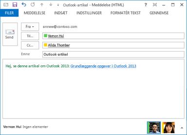 Ændret linktekst i en mail