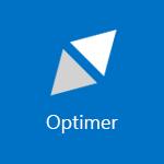 Skærmbillede af en flise, der viser ordet Optimer