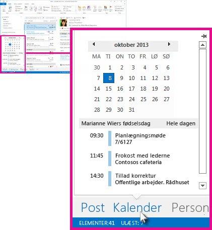 Kalenderoversigt