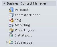 Udvidet Business Contact Manager-mappe i navigationsruden