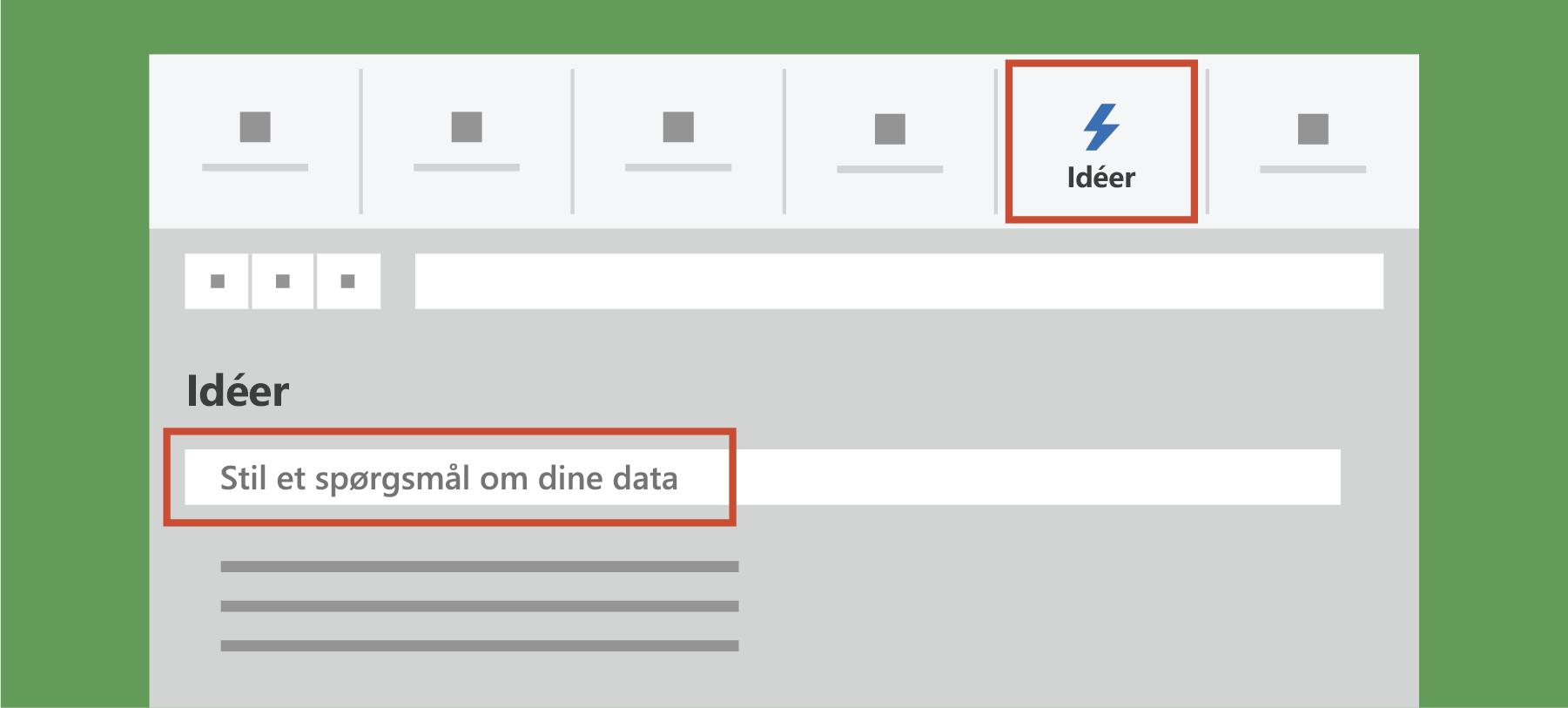 Viser idéer i Excel