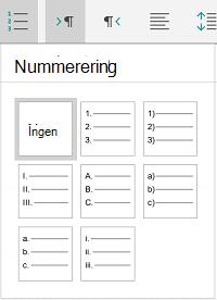 Nummerering