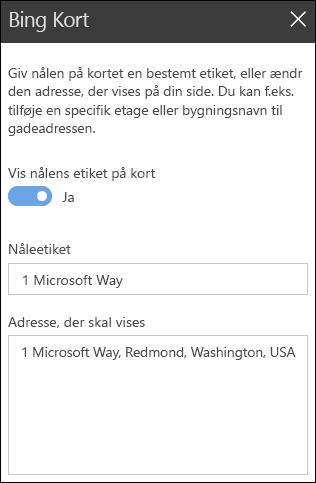 Bing Maps webdel værktøjskasse
