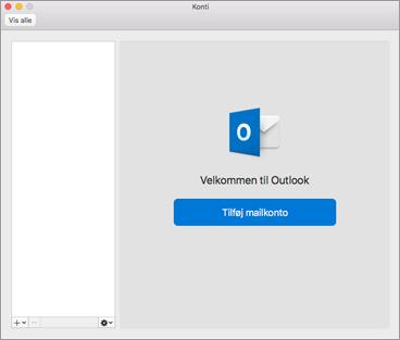 Tilføje din mailkonto