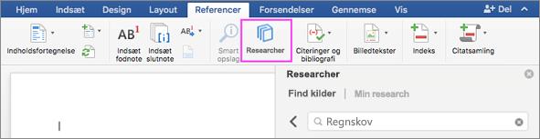 Find de researchmaterialer, du skal bruge, direkte fra Word.