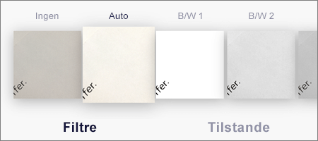 Indstillinger for filtrering for billedscanninger i OneDrive til iOS