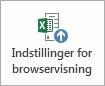 Knappen Indstillinger for browservisning