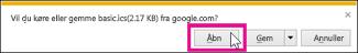 Google-kalender – åbn kalenderen fra Internet Explorer