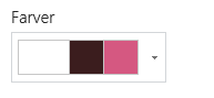 Ændre farver på websted