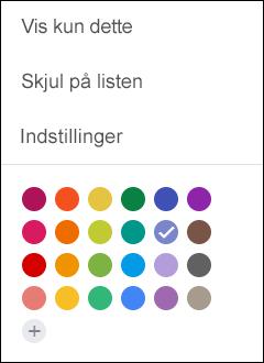 Vælg indstillinger i din Google-kalender.
