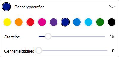 OneDrive til Android PDF-markering pennetyper