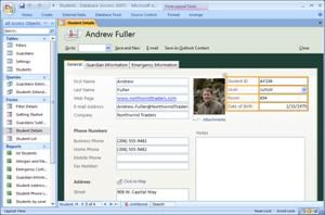 Databaseskabelon for studerende