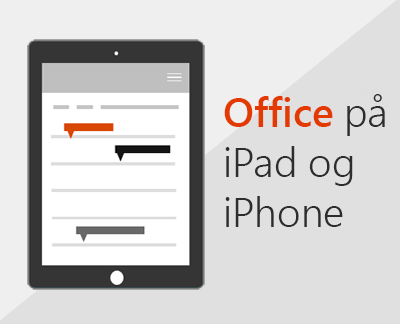 Klik for at konfigurere Office-apps på iOS