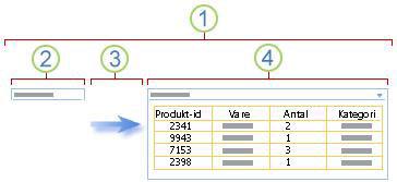 Oversigt over tilknytning af en filtreringswebdel