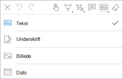 OneDrive til iOS i PDF-markering tekst