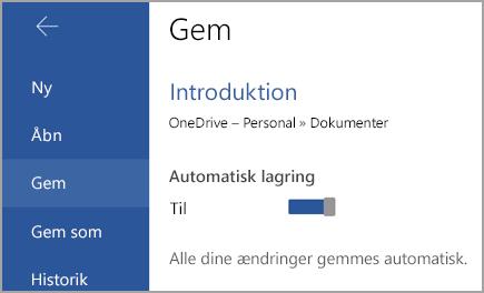 Kontakten Automatisk lagring på Android