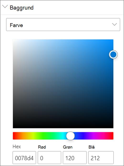 Farveindstillinger