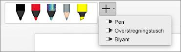 Penne i Word til Mac