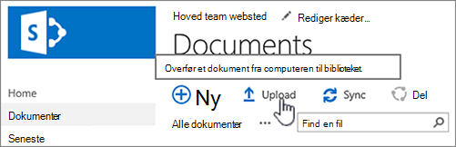 Overføre et dokument