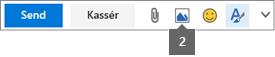 Med ikonet Indsæt billede kan du indsætte fra OneDrive eller din computer