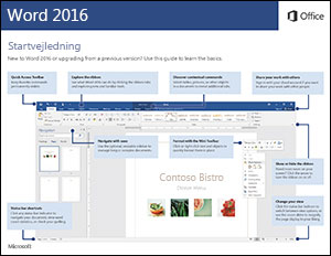 Startvejledning til Word 2016 (Windows)