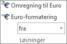 Euro-konvertering og euro-formatering