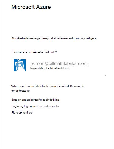 Microsoft sender meddelelse