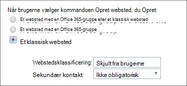 Rullelisten Webstedsklassificering
