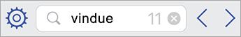 Søgefeltet i Visio Viewer til iPad
