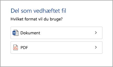 Dokument eller PDF