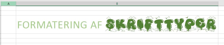 Brug af RTF-formateret skrifttype til flere typer af tekstformatering