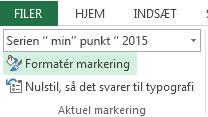 Formatér markering findes under fanen Formater.