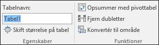 Billede af boksen Navn i formellinjen i Excel til at omdøbe en tabel