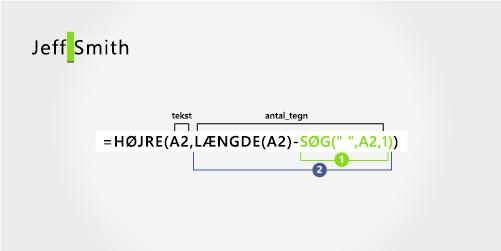 Formel til at uddrage et efternavn
