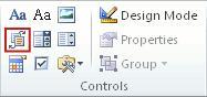 Kontrolelement for indhold af dokumentkomponent