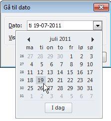 Gå til dialogboksen Dato med Datosøgning
