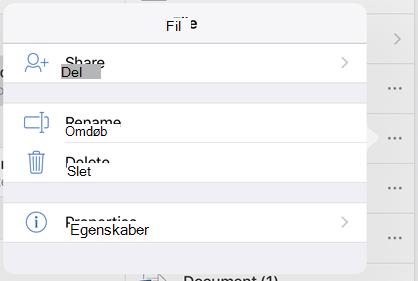 Omdøb filen ved at trykke på knappen 3 prikker og vælge Omdøb