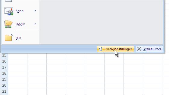Excel-indstillinger