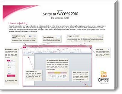 Miniature af Vejledning til at skifte til Access 2010