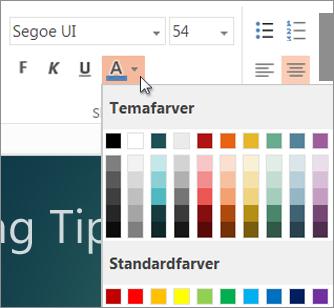 Vælge en tekstfarve