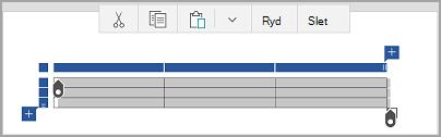 Windows Mobile tabel kommandolinje