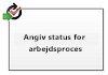 Angiv status for arbejdsprocessen